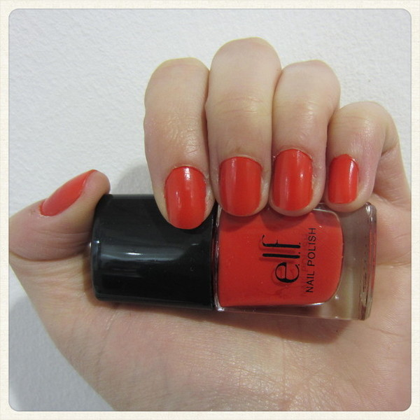 Bella and Robot: Manicure Monday: ELF Nail Polish Fire Coral