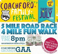 Coachford 5 mile - Thurs 12th July 2018