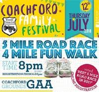Coachford 5 mile - Thurs 12th July 2018