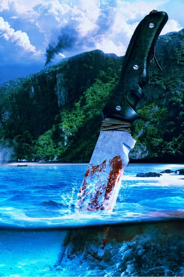 far cry 3 bloody knife wallpaper