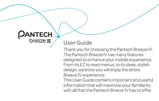Pantech Breeze IV Manual