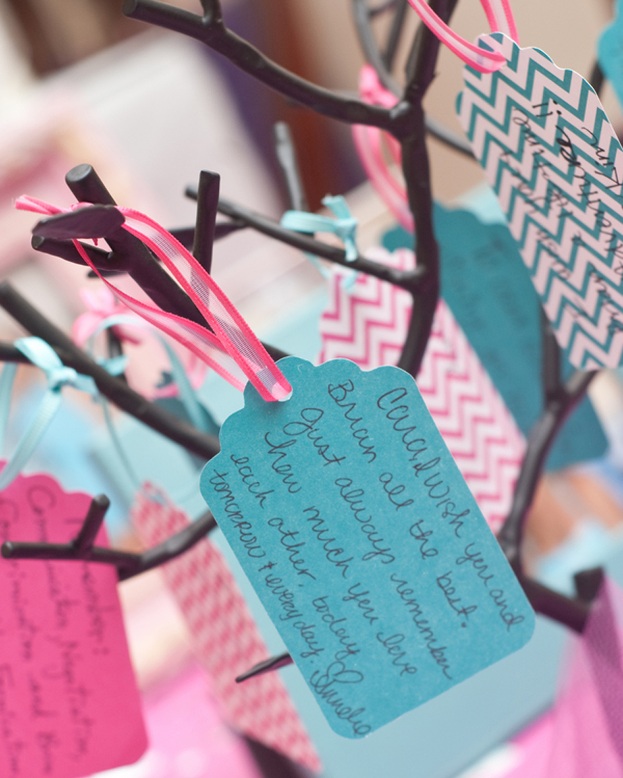 Tiffany blue themed bridal shower, wishing tree