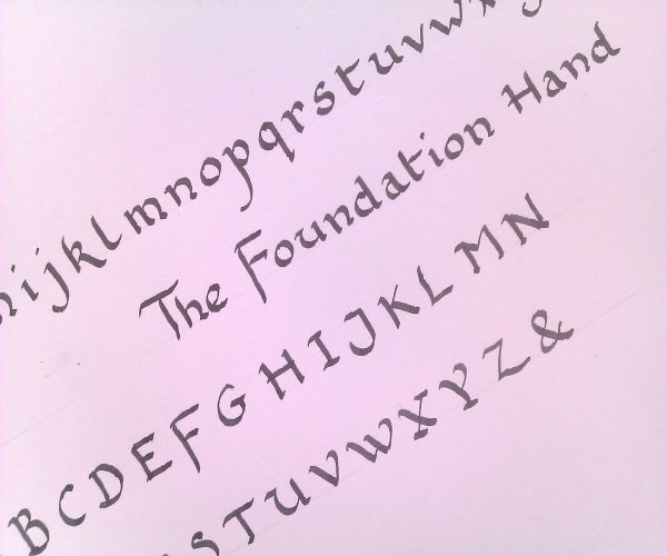 Calligraphy for beginners foundation hand
