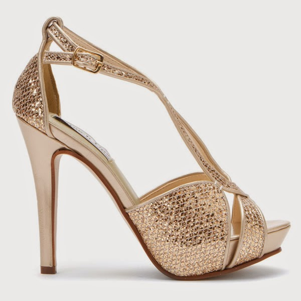 Champagne Colored Cheap Wedding Shoes