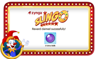 Zynga Slingo Daily Bonus Claim 2 Extra Balls Update 15 April 2012
