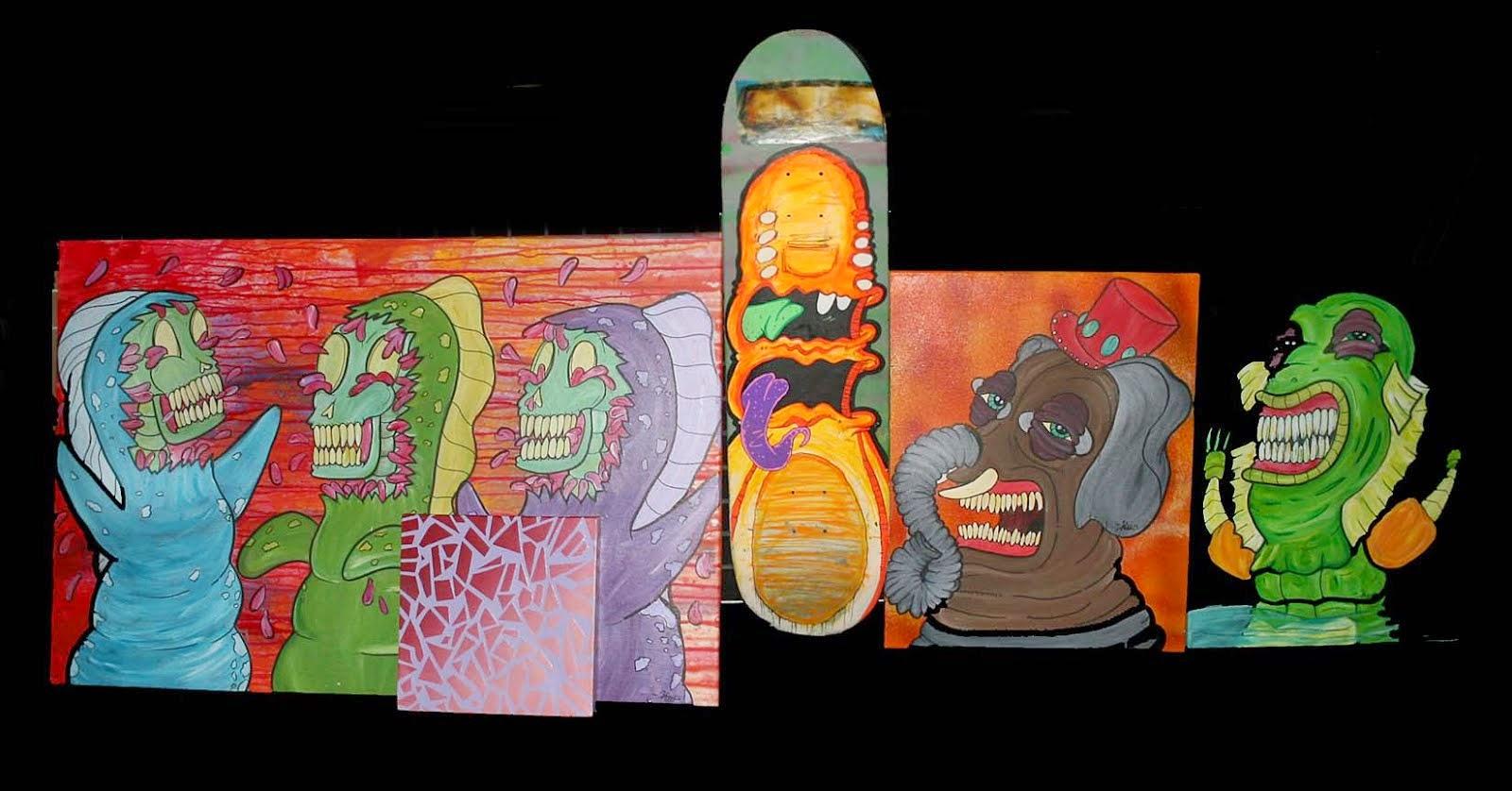 Inside Artist Alley ...