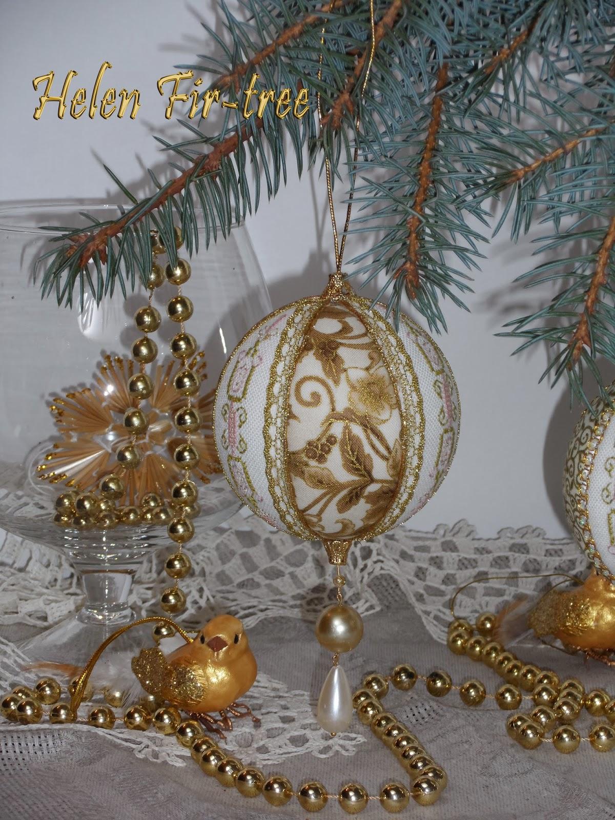 Helen Fir-tree вышивка винтажные ёлочные шары