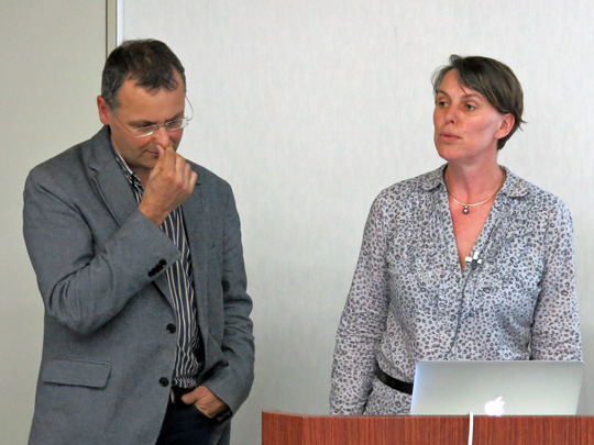 右が Aquafadas CEO Claudia Zimmer 氏、左が CTO Matthieu Kopp 氏