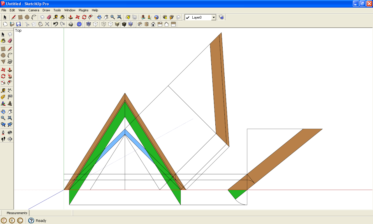 Roof framing geometry draw down technique sketchup ruby for Roof drawing app