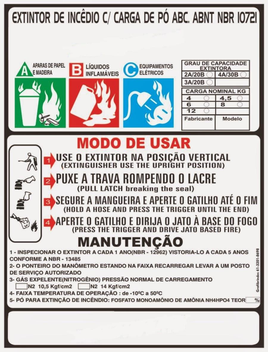 Armario Definición Rae ~ Daniel Tavares Extintor automotivo ABC Eu n u00e3o entendo