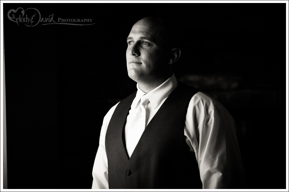 Portrait of groom during getting ready