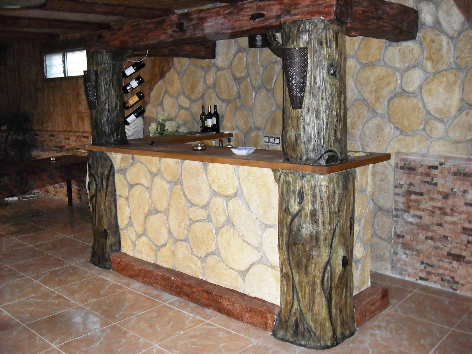 Piedras y maderas artificiales javier lude a tlf - Botelleros de obra ...