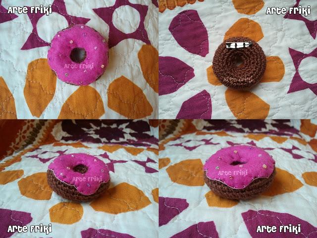 donut amigurumi rosquilla crochet ganchillo broche llavero