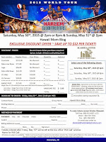 Harlem Globetrotters in Honolulu - Exclusive Discount and VIP Bench Packages Available!!