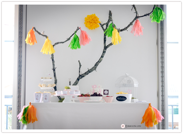 Bird in a winter garden party from BistrotChic featured in Kara's Party Ideas