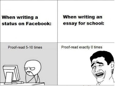 When writing an essay...?