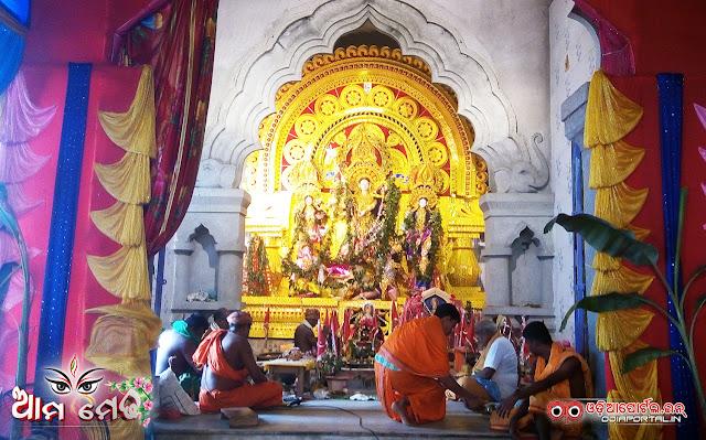 Ama Medha: Durga Medha From Lunahar, Chandradeipur, Salipur, CTC - Photo By OdiaPortal Team