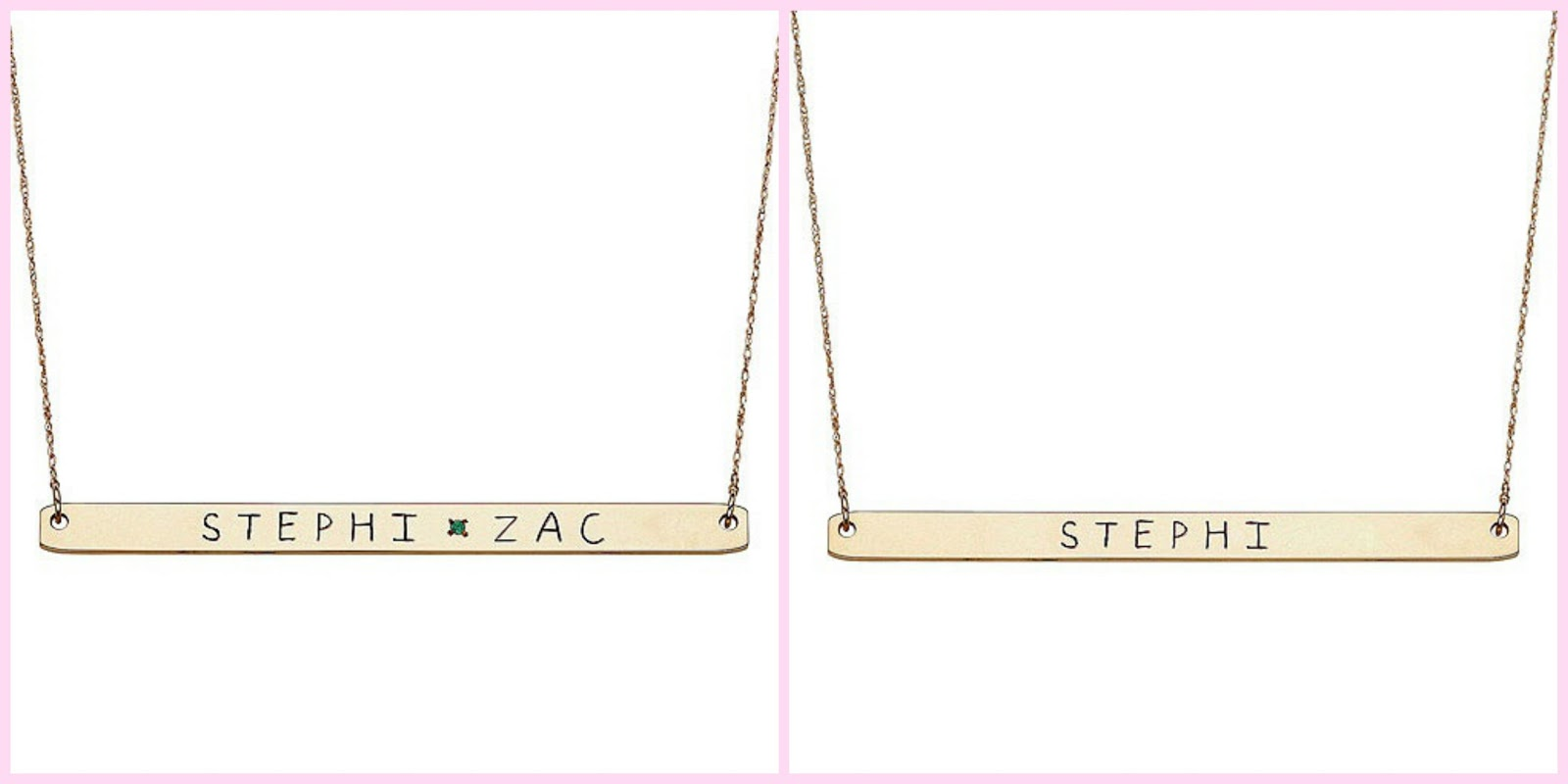 Jennifer Meyer Nameplate Necklace - Viewing Gallery Kim Kardashian