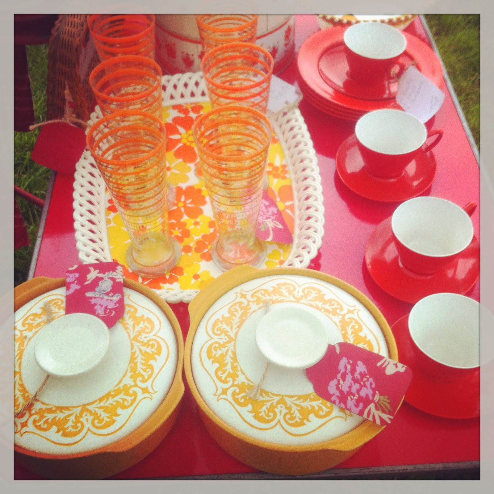 Orange vintage kitchenalia