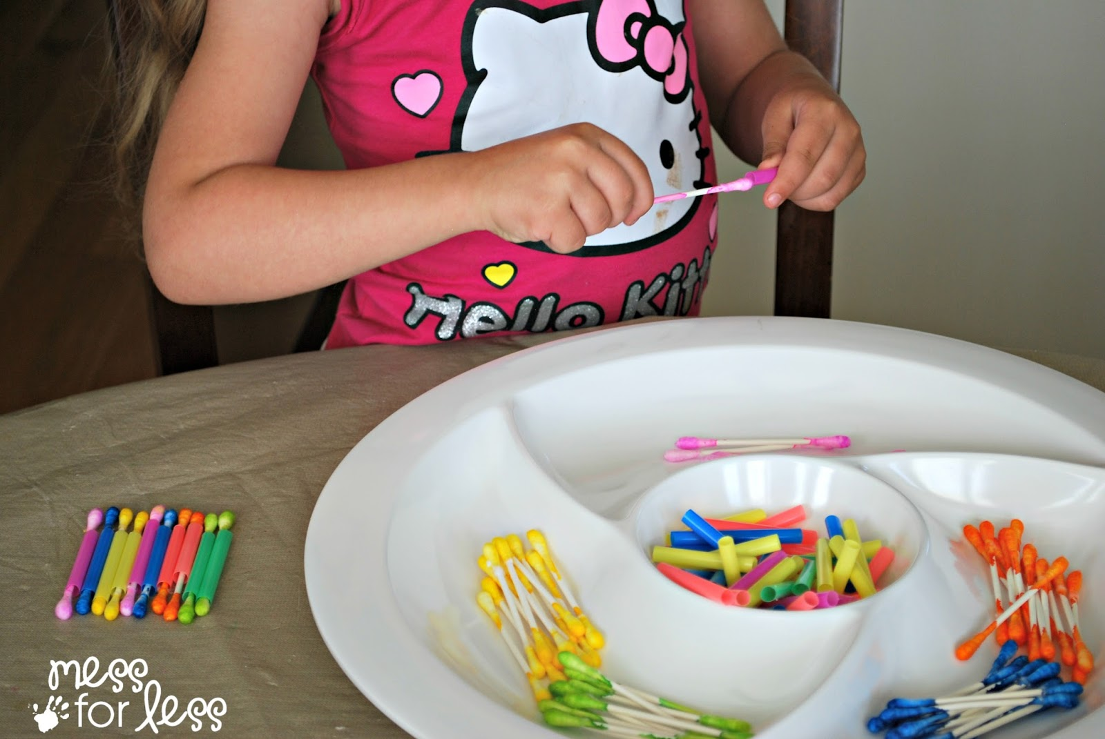 In addition to working to working on fine motor skills, this activity ...