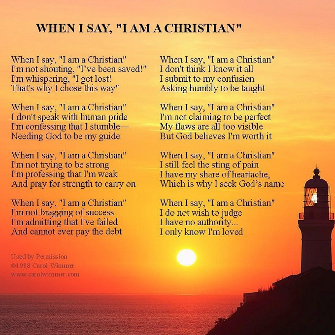 I AM Christian Maya Angelou Poem
