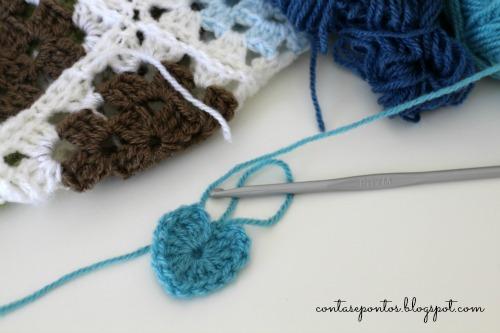 Granny squares em crochet