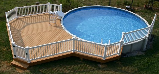 Hypnotic blend above ground pool dream for Above ground pool decks with slide