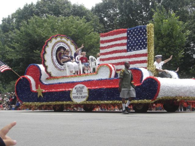 Float at July 4 parade in Washington, D.C.