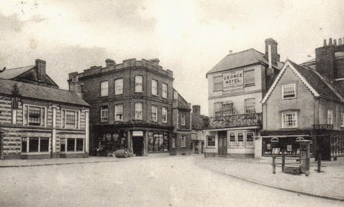 Buckinghamshire; Winslow Market Square and George Hotel
