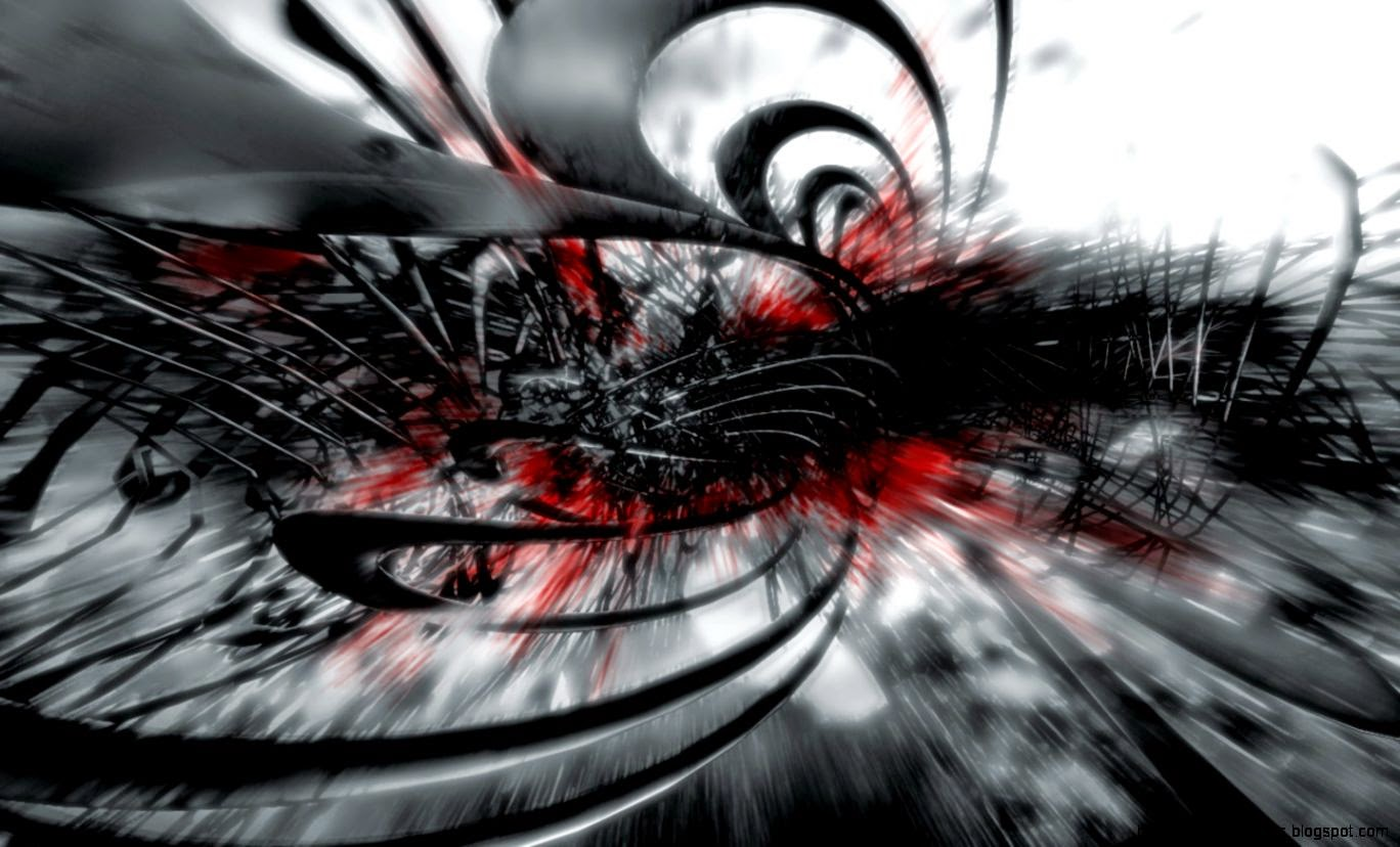 Black White And Red Abstract Wallpaper
