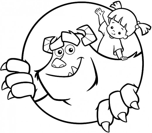 Monsters Inc Coloring Pages Free Coloring Pages