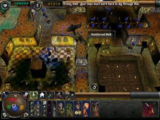 Game play footage screen shot of Dungeon Keeper 2