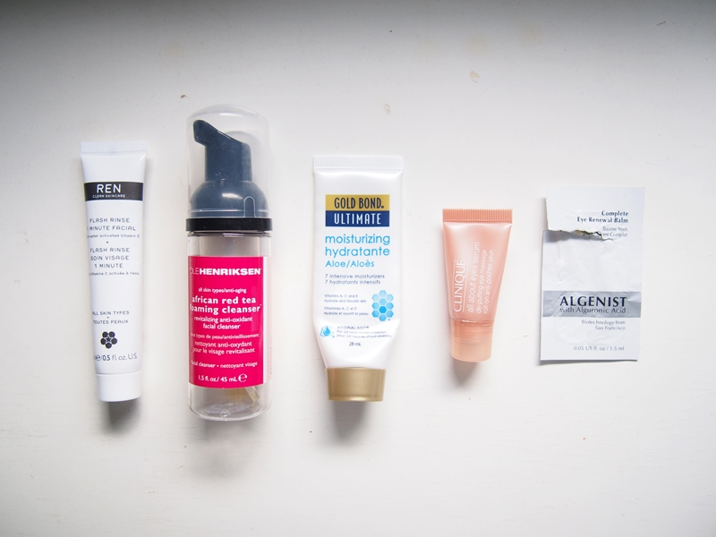 empty skincare samples