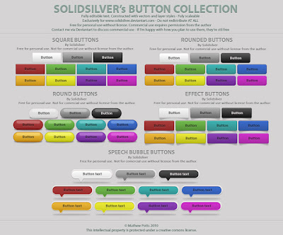 Solid Silver Button Collection.psd