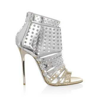 Jimmy Choo high heels, metallic sandals