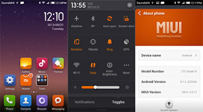 MIUI v5 For ZTE Blade 3