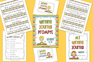 Writing Journal Prompts Grades 1-3