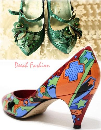 Sepatu Vintage Ala Syahrini Terbaru