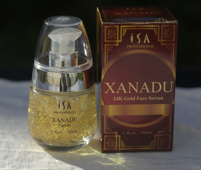 XANADU 24K Gold Serum by ISA Professional is designed to be the Best Serum for your face. Can also be used as a Makeup Foundation Primer that is weightless and helps makeup last longer.  Formulated with a combination of Botanical Ingredients, High Tech science, and 24K Real Gold. This serum will moisturize, reduce the appearance of wrinkles, even skin tone, repair sun damage, and give you a golden youthful glow.