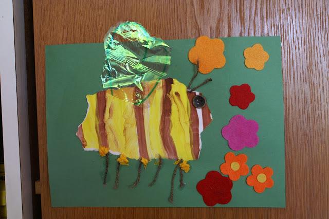 Basteln Frühling und Sommer Kindergartenidee
