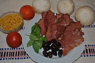 ingrediente topping pizza