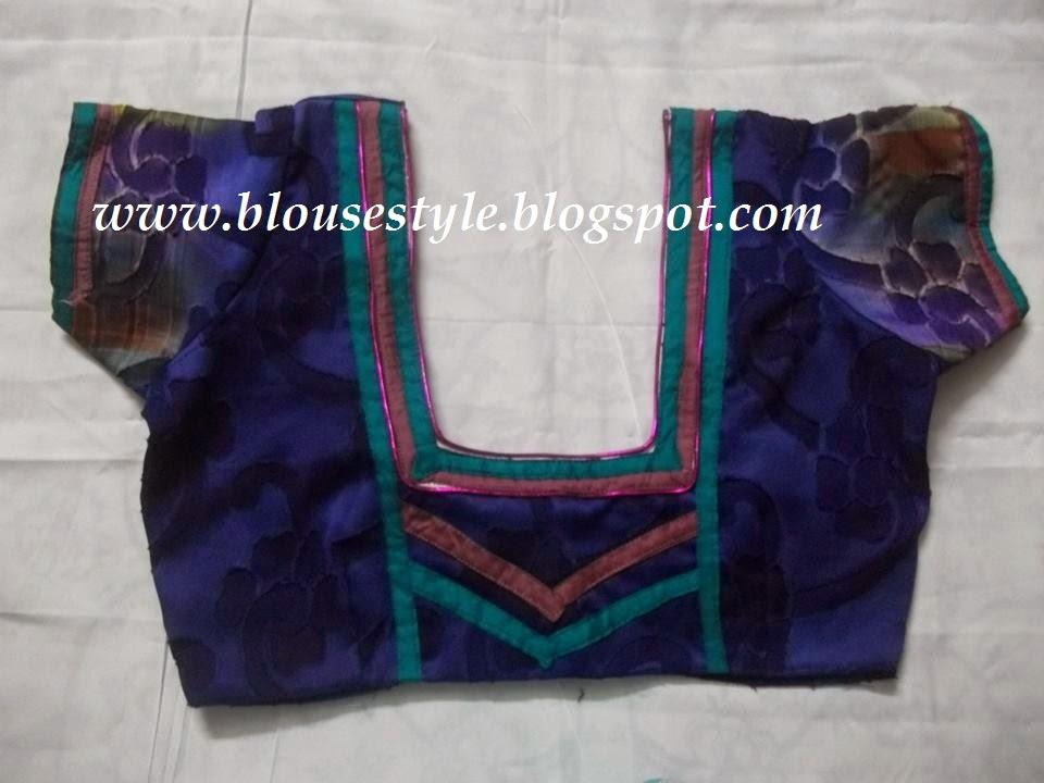 purple colour blouse