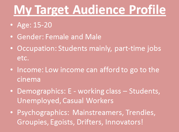 target audience profile. My target audience profile