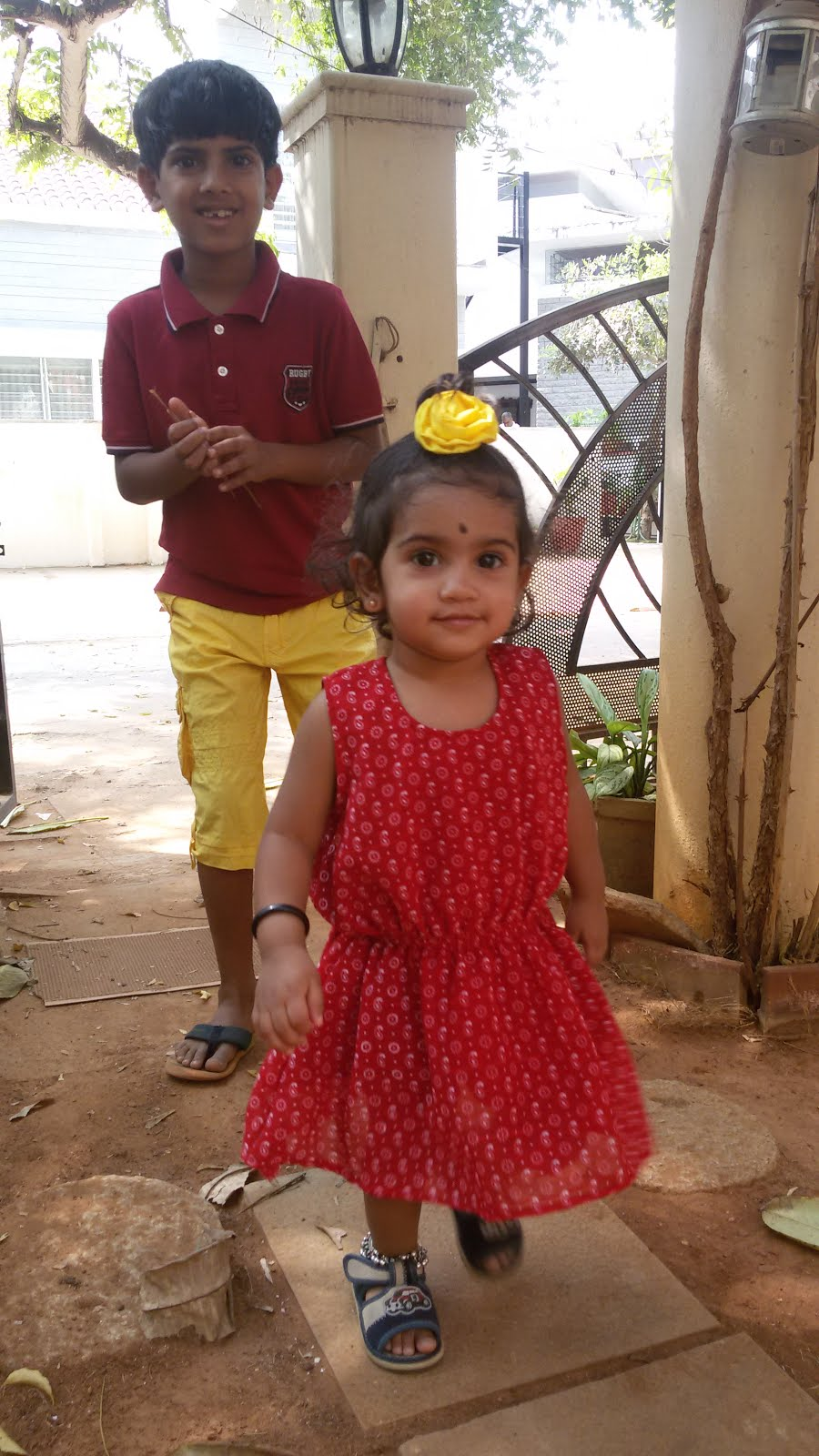 our kannada rajyotsava colour co ordinated kids