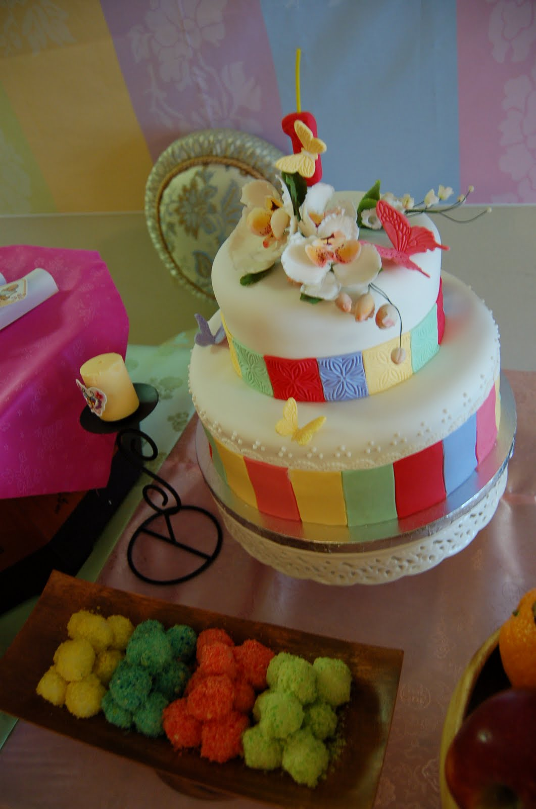 Haven Sweets Sias First Birthday Cake Korean Traditional Table
