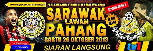 Keputusan Sarawak vs Pahang 26 Oktober 2013