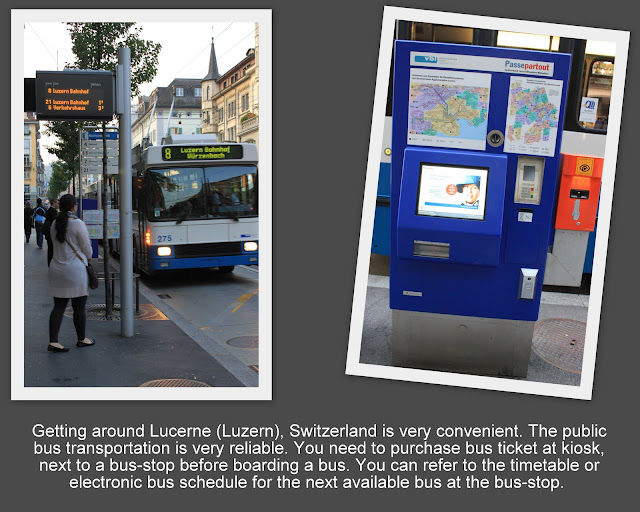 Reliable public bus transportation around Lucerne, Switzerland