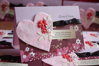 Pink valentine engagement invitation card