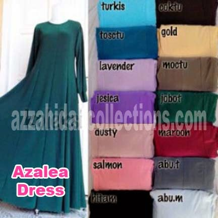 Gamis Jersey Azalea Dress | azzahidahcollections.com