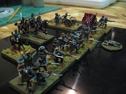 My 15mm Confederate Battle line.